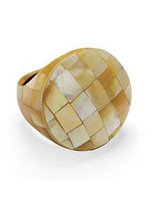Beige Mother-Of-Pearl Ring by PalmBeach Jewelry