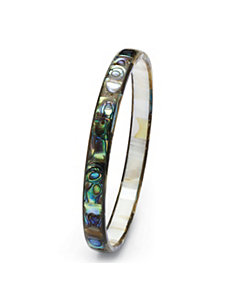 Abalone Mother-Of-Pearl Bangle by PalmBeach Jewelry