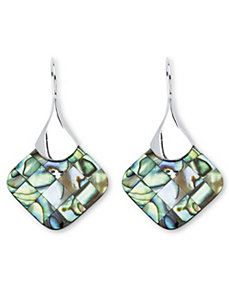 Abalone Mother-Of-Pearl Earrings by PalmBeach Jewelry