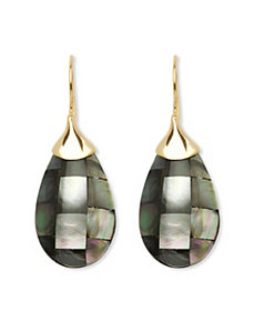 Mother-Of-Pearl Earrings by PalmBeach Jewelry
