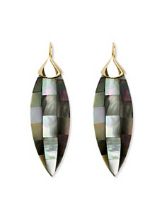 Black Mother-Of-Pearl Earrings by PalmBeach Jewelry