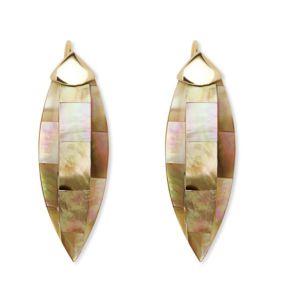 Beige Mother-Of-Pearl Earrings