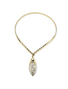 White Mother-Of-Pearl Necklace by PalmBeach Jewelry
