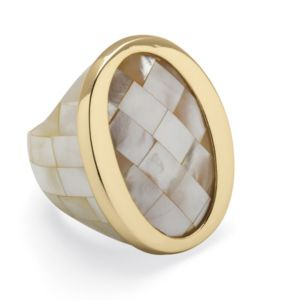 White Mother-Of-Pearl Ring