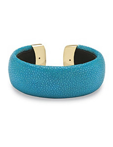 Turquoise-Colored Stingray Cuff by PalmBeach Jewelry