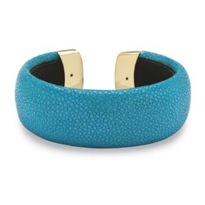 Turquoise-Colored Stingray Cuff