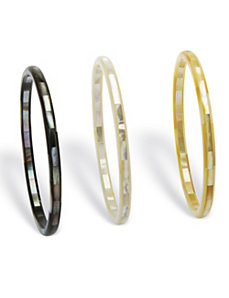 Mother-Of-Pearl Bangles by PalmBeach Jewelry