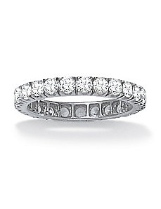 2.40 TCW Cubic Zirconia Eternity Band by PalmBeach Jewelry