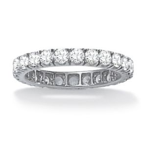 2.40 TCW Cubic Zirconia Eternity Band