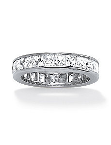 5.29 TCW Cubic Zirconia Eternity Band by PalmBeach Jewelry