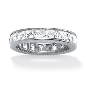 5.29 TCW Cubic Zirconia Eternity Band