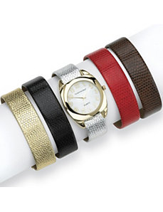 Interchangeable Band Watch Set by PalmBeach Jewelry