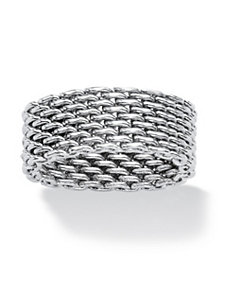 Stainless Steel Mesh Ring by PalmBeach Jewelry