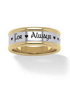 "Stainless Steel""For Always""Ring by PalmBeach Jewelry"