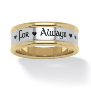 "Stainless Steel""For Always""Ring"