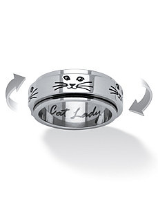 Cat Lady Spinner Ring by PalmBeach Jewelry