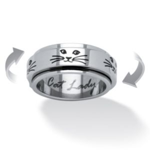 Cat Lady Spinner Ring