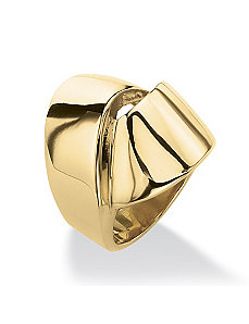 Gold IP Stainless Knot Ring by PalmBeach Jewelry
