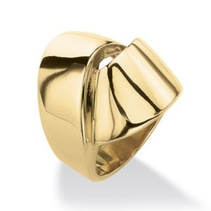 Gold IP Stainless Knot Ring