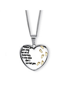 Footprints Pendant Necklace by PalmBeach Jewelry