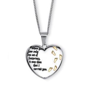 Footprints Pendant Necklace