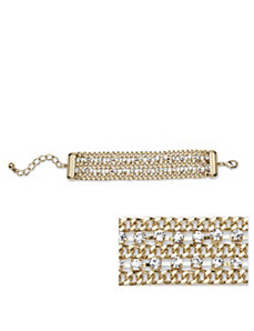 Crystal Curb Link Braclelet by PalmBeach Jewelry