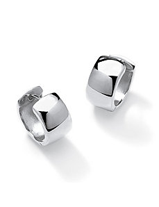 Sterling Silver Huggie Earrings by PalmBeach Jewelry