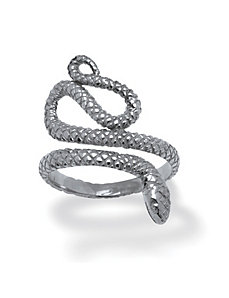 Sterling Silver Snake Ring by PalmBeach Jewelry