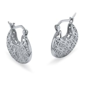 Sterling Filigree Hoop Earrings