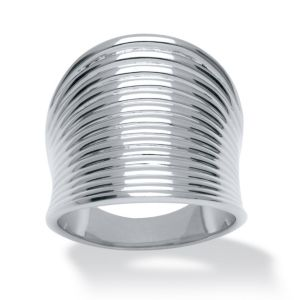 Ribbed Concave Ring