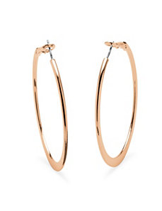 Rose Gold-Plated Hoops by PalmBeach Jewelry
