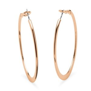 Rose Gold-Plated Hoops