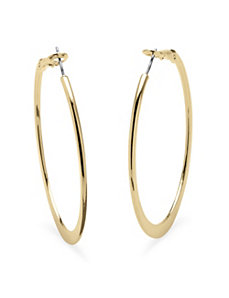 18k Gold-Plated Hoops by PalmBeach Jewelry
