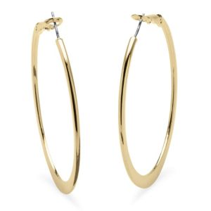 18k Gold-Plated Hoops