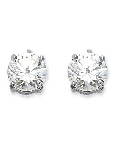 6 TCW Cubic Zirconia Earrings by PalmBeach Jewelry