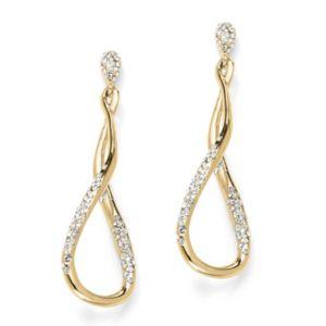Pave Crystal Twist Earrings