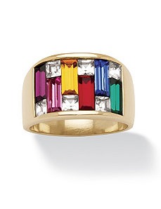 Multi-Colored Crystal Ring by PalmBeach Jewelry