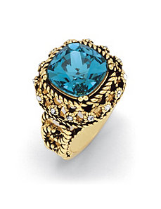 Blue Crystal Rope Ring by PalmBeach Jewelry