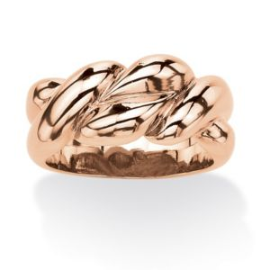 Rose Gold-Plated Braided Ring