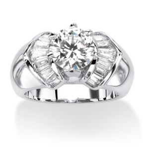 Cubic Zirconia Dome Ring