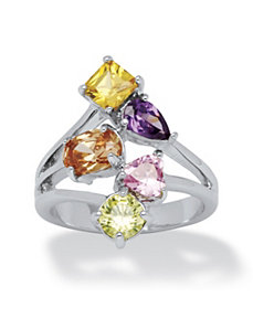 Multi-Color Cubic Zirconia Ring by PalmBeach Jewelry