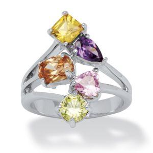 Multi-Color Cubic Zirconia Ring