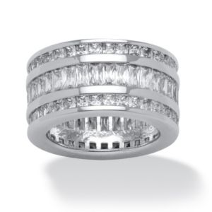 15.75 TCW Triple-Row Cubic Zirconia Band