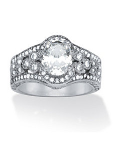 2.42 TCW Cubic Zirconia Ring by PalmBeach Jewelry