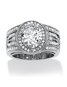 4.47 TCW Cubic Zirconia Ring by PalmBeach Jewelry