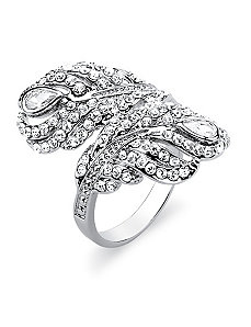 Cubic Zirconia Feather Ring by PalmBeach Jewelry