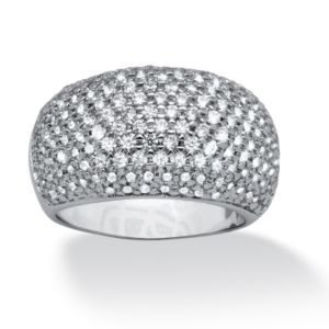2.70 TCW Cubic Zirconia Pave 180 Stone Ring
