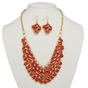 Orange Bib Necklace