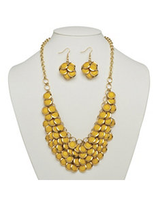 Yellow Bib Necklace by PalmBeach Jewelry