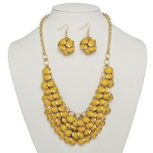 Yellow Bib Necklace